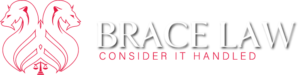 Brace Law Considet It Handled White Logo
