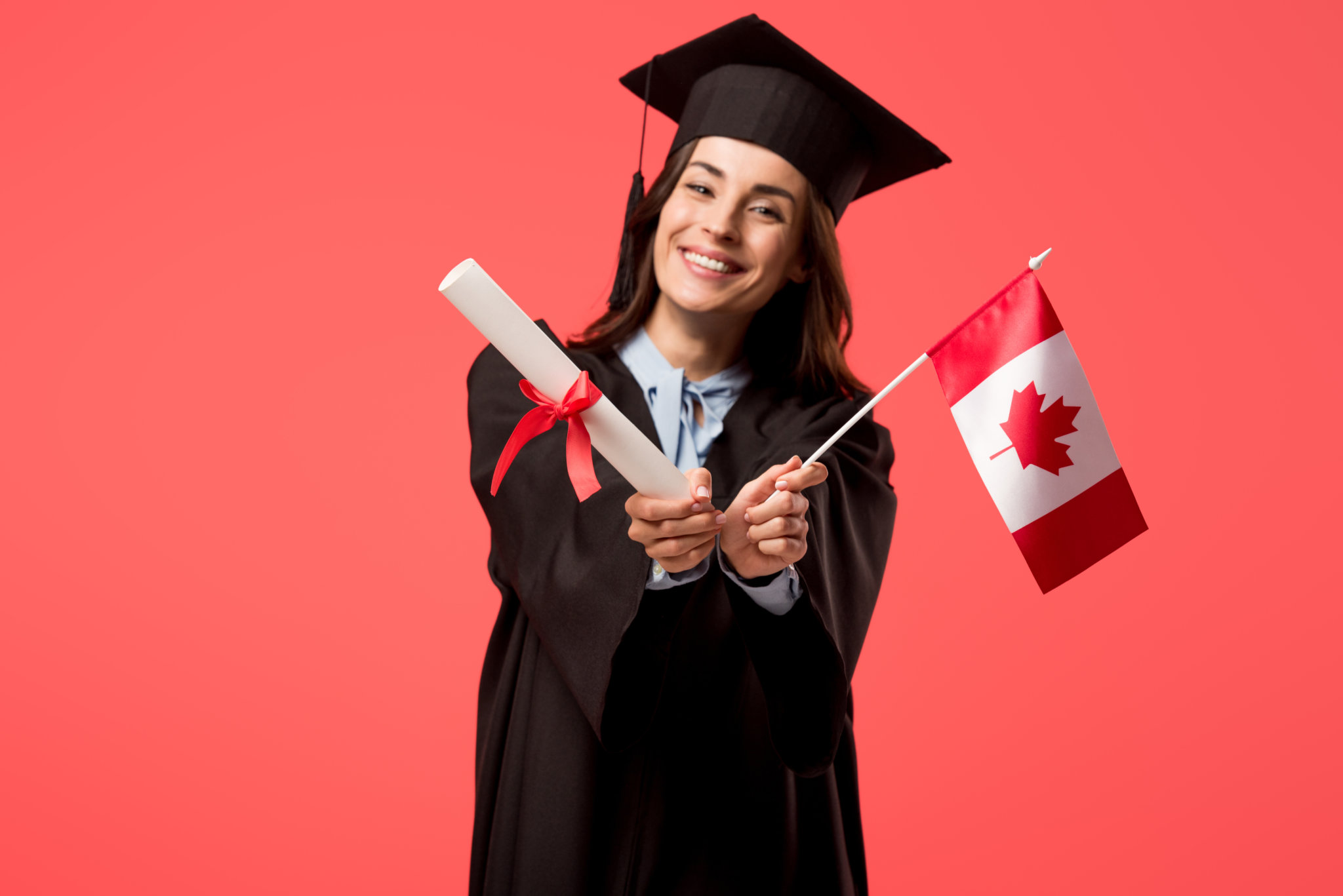 From far and wide oh Canada, we travel to study in thee