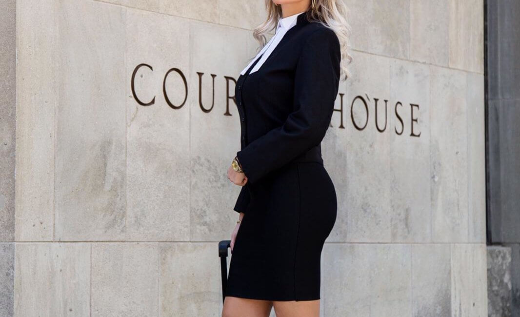 Miss Brace in the court